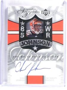 2003 UD NFL Patch Collection Signature Patches Chad Johnson Autograph #SPCJ *582