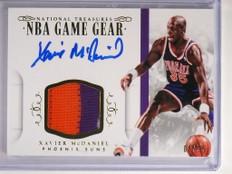 14-15 National Treasures Game Gear Xavier Mcdaniel autograph patch /25 *50732