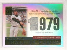 2004 Topps Tribute Hall Of Fame Willie Mays jersey #TR-WM4 *55233
