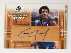 03-04 Sp Game Used Significant Marks Gilbert Arenas autograph #D54/75 *48932