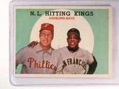 1959 Topps Willie Mays & Richie Ashburn #317 ex *46563