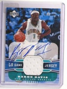 04-05 Upper Deck Game Jersey Baron Davis autograph auto #D30/100 *46704