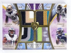 2014 Topps Supreme Brandin Cooks Lee Matthews Richardson quad patch /5 *48363