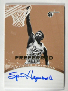 12-13 Panini Preferred Gold Spencer Haywood auto autograph #D02/10 #189 *39876