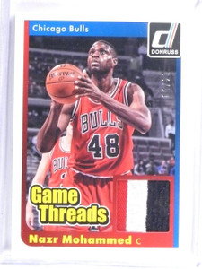2014-15 Donruss Basketball Game Threads Nazr Mohammed Jersey Patch #D14/20 *5835