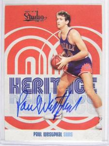 09-10 Panini Studio Heritage Paul Westphal auto autograph #D86/99 #8 *24512