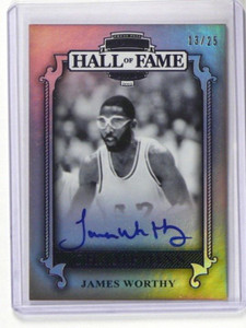 2012 Press Pass Hall Of Fame James Worthy auto autograph #D13/25 #CH-JW *36338