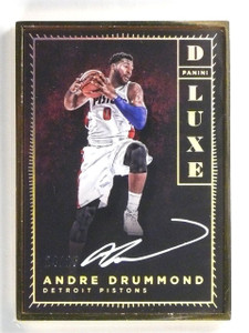 2015-16 Panini Luxe Deluxe Andre Drummond autograph auto #d24/25 *55883
