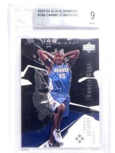 2003-04 Upper Deck Black Diamond Carmelo Anthony rc ookie #186 BGS 9 MINT *63869