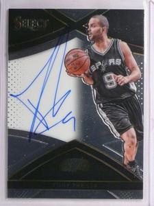 15-16 Panini Select Signatures Tony Parker autograph auto #D04/99 #S-TPK *55286