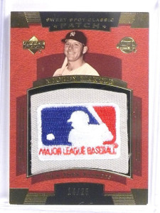 2004 Upper Deck Sweet Spot Classic MLB Patch Mickey Mantle #D14/25 *58025