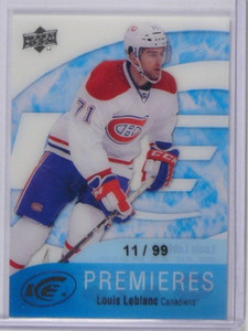 11-12 Upper Deck Ice Premieres Louis Leblanc rc rookie #D11/99 #102 *37243
