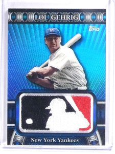 2010 Topps MLB Manufactured Logoman Patch Lou Gehrig #D26/50 #LM27 *57906