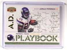 2008 Donruss Gridiron Gear Adrian Peterson Playbook Jersey #d224/250 *46924