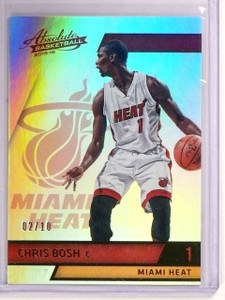 2015-16 Absolute Chris Bosh Spectrum Gold #D02/10 #96 Heat *54276