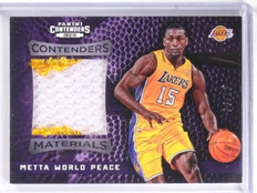 2012-13 Contenders Materials Prime Metta World Peace Jersey Patch #D03/10 *57494