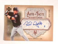 2006 Upper Deck Artifacts Auto-Facts David Wright autograph #D56/300 *46179