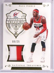 2014-15 National Treasures Paul Pierce Treasures Jersey Patch #D08/25 #MTPP *544