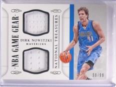 2014-15 National Treasures Dirk Nowitzki Dual Jersey Gear #D59/99 #GGDDN *53907