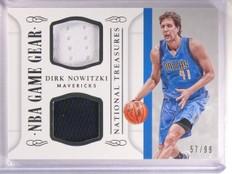 2014-15 National Treasures Dirk Nowitzki Dual Jersey Gear #D57/99 #GGDDN *53906