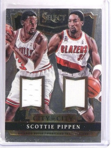 2014-15 Select Scottie Pippen City to City Dual Jersey #D181/199 #18 *53786
