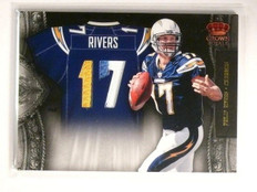 2011 Crown Royale Jesey Numbers Philip Rivers 3clr patch #D03/10 #8 *45076
