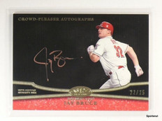 20013 Topps Tier One Crowd Pleaser Rose Jay Bruce autograph auto #D22/25 *43857
