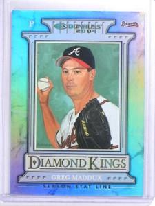 2004 Donruss Diamond Kings Season Stat Line Greg Maddux #D216/225 #2 *63716