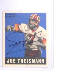 1997 Leaf 1948 Reproductions Joe Theismann Autograph #D1503/1948 #17 *64013