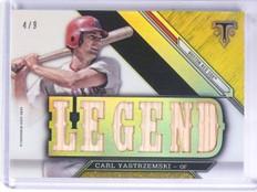 2016 Topps Triple Threads Legends Carl Yastrzemski Bat #D4/9 #TTRLCY *60447
