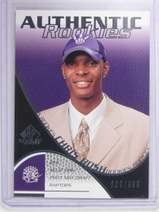 2003-04 UD SP Game Used Chris Bosh Rookie RC #D869/999 #110 *64609