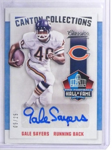 2016 Classics Canton Collections Gale Sayers Autograph #D05/25 #CANGS *60421