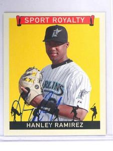 2007 Upper Deck Goudey Sport Royalty Hanley Ramirez auto autograph #SR-HR sp *40