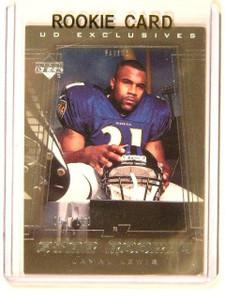 2000 Upper Deck UD Exclusives Silver Jamal Lewis rc rookie #D58/100 #245 *41560