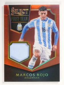 2015 Select Marcos Rojo First Team Swatches Jersey Red #D7/49 #FTMRO *53132