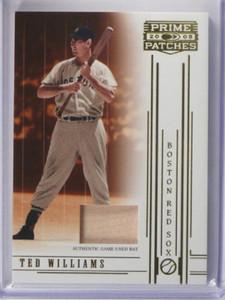 2005 Prime Patches Materials Ted Williams bat #83 sp/150 *35613