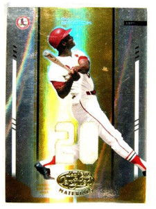 2004 Leaf Certified Mirror Gold Lou Brock jersey #D17/25 #227 *27257