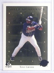 1998 UD SP Authentic Sheer Dominance Gold Tony Gwynn #D1798/2000 #SD19 *62412