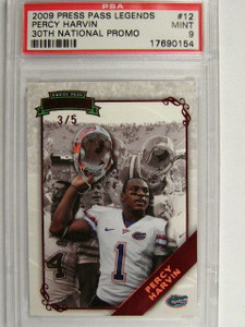 2009 Press Pass Legends Red Percy Harvin rc rookie #D3/5 PSA 9 *25919
