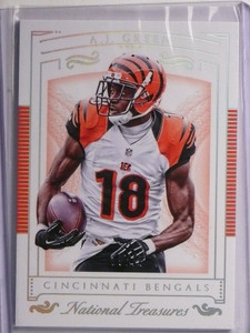 2015 National Treasures Holo Silver A.J. Green #d15/25 #5 *55708