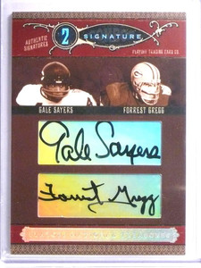 2006 National Treasures Combos Gale Sayers & Forrest Gregg autograph /25 *67664