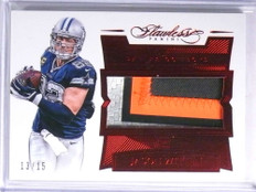 2016 Panini Flawless Patches Ruby Jason Witten 3 color patch #D13/15 *67709