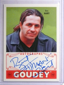 2016 Upper Deck Goodwin Champions Goudey Bret Hart autograph auto  *67771