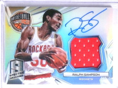 2014-15 Spectra Hall Of Fame Ralph Sampson autograph jersey #D20/35 *67795