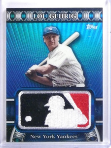 2010 Topps Manufactured MLB Logoman Patch Lou Gehrig #D49/50 #LM27 *59674