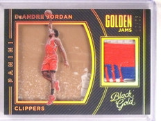 2015-16 Black Gold Golden Jams Deandre Jordan 3clr patch #D12/25 *67816