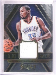 2014-15 Select Swatches Kevin Durant jersey #D67/75 #35 *67849
