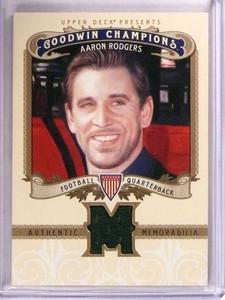 2012 Upper Deck Goodwin Champions Aaron Rodgers jersey #M-AR *67885