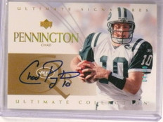 2003 Ultimate Collection Signatures Gold Chad Pennington autograph #/50 *67915