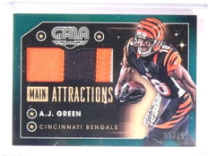 2016 Panini Gala Main Attractions A.J. Green 3 color patch #D08/25 *67980